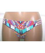 NWT Jessica Simpson Side Braid Starburst Bikini Hipster Bottom S M L Coo... - $8.74