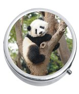 Panda Bear Tree Medicine Vitamin Compact Pill Box - $9.78