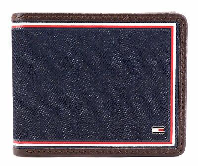 Tommy Hilfiger Men's Leather Wallet Passcase Billfold Rfid Brown 31TL220103