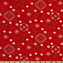 Richland Textiles Bandana Prints Red Fabric by The Yard image 6