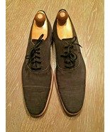 Grenson Benjamin Oxford Cap Toe Brogues 5059 Charcoal Suede UK 8G USA 9M - $93.14