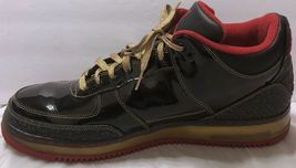 3 Leather Black 2008 Air AJF Patent 15 Nike Gold Premiere Jordan Force Red Sz TWtWzqH