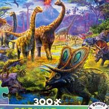 Ceaco Prehistoria Dinosaurs 300 Oversized Pcs Puzzle Complete - $6.92