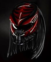 New Predator Motorcycle Helmet Sea Red And Black (Dot & Ece Certified) - $250.00