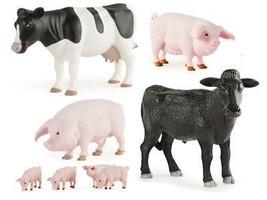 1:16 *ERTL* FARM ANIMALS *HOLSTEIN COW STEER PIG SOW BOAR* TOYS *BRAND NEW* - $25.99