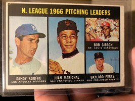 1967 Topps #236 Nl Pitching Leaders Bob Gibson Sandy Koufax Marichal G. Perry - $29.40