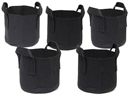 5-Pack Grow Bags /Nonvoven Premium Quality Raised Bed Fabric Fabric Pots... - $25.98