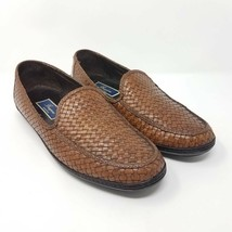Bragano Mens Loafers Shoes C03684 Brown Slip-On Weave Italy Casual 10.5 ... - $54.99
