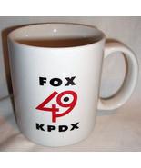 Fox 49 KPDX Coffee Mug Portland Oregon TV Station Smile Logo Retired 200... - $29.99