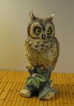 VINTAGE ETHAN ALLEN GREAT HORNED OWL CERAMIC FIGURINE  3203 / JAPAN  - $70.08