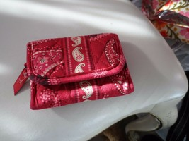 Vera Bradley trifold wallet in Mesa Red retired pattern  - $13.50