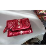 Vera Bradley trifold wallet in Mesa Red retired pattern  - $13.50