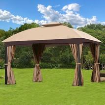 Garden Gazebo Canopy Patio Backyard Double Roof Vented Mosquito Netting ... - $279.99