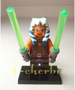 AHSOKA TANO Star Wars Minifigure +Stand The Clone Wars Rebels Best Quali... - $7.00