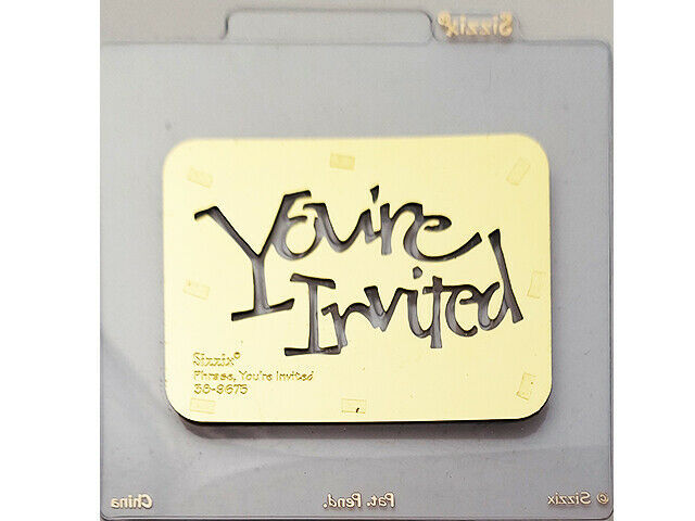 Sizzix You're Invited Metal Embossing Plate #38-9675