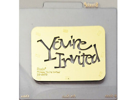 Sizzix You're Invited Metal Embossing Plate #38-9675 image 1