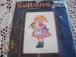 Sultana Girl With Doll & Boy With Bike Cross Stitch Charts - $6.00