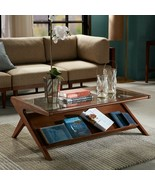 """Ink + Ivy """"Mid century Modern Style"""" Wood & Glass Rocket Coffee Table SALE! - $385.00"""
