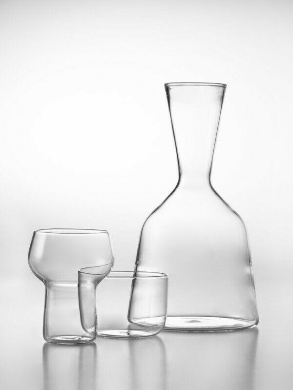 De Vecchi Milano 1935 Tancredi e Bartolomeo Glass Wine Decanter Giulio Iacchetti