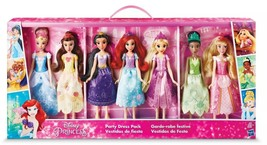 NEW SEALED 2018 Disney Princess Party Dress Pack 7 Dolls Target Exclusive - $89.09