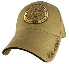 US ARMY WITH SEAL- U.S. Army Khaki Military Hat Baseball Cap Hat - $23.95