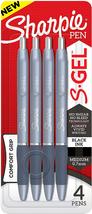 Sharpie S-Gel, Gel Pens, Medium Point (0.7Mm), Black Gel Ink Pens, 4 Count - $7.91
