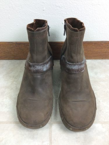 a1b294e483035 12. 12. Previous. Merrell Luxe Mid Bitter Chocolate Zip Up Leather Ankle  Boots Womens 7.5