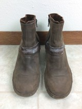 Merrell Luxe Mid Bitter Chocolate Zip Up Leather Ankle Boots Womens 7.5 - $28.04