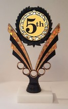 """5th Place Trophy 7-1/4"""" Tall As Low As $3.99 Each Free Shipping T06N17 - $7.99+"""