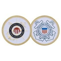 "USCG COAST GUARD TRAINING CENTER YORKTOWN 1.75"" CHALLENGE COIN - $18.04"