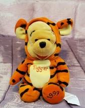 "Disney Store Winnie the Pooh As Tigger  8"" Beanbag Plush 1999 Vintage - $9.98"