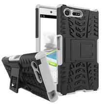 Armor Dual Layer Kickstand Protective Case for Sony Xperia X Compact - White  - $4.99