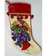 St Nicholas Square Christmas Stocking Kohls Tassel Braiding Needlepoint ... - $24.74