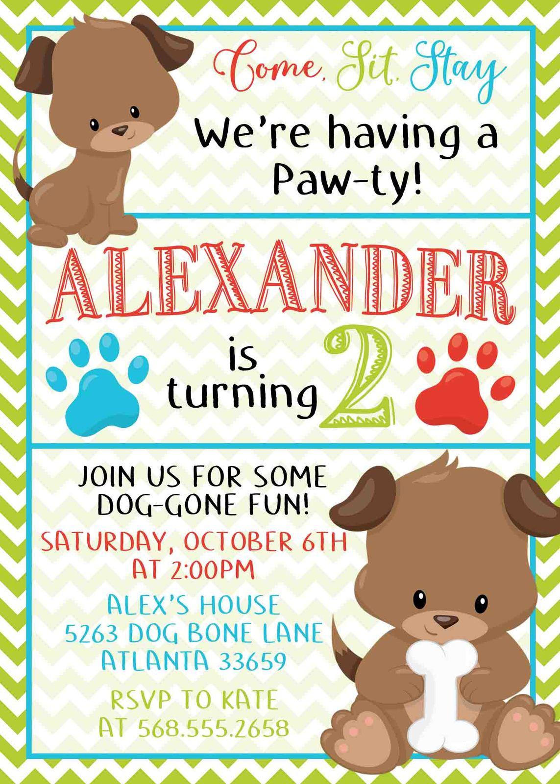 Dog birthday invitation puppy birthday and similar items dog birthday invitation puppy birthday invitation puppy party birthday invite filmwisefo