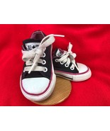 CONVERSE CHUCK TAYLOR ALL STAR KIDS LOW TOP SNEAKERS BLACK/PINK TODDLER ... - $31.68