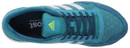 adidas Womens Adizero Adios Running Shoe Energy Blue/White/Energy Aqua BY2783