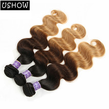 T1b/4/27 Ombre Malaysian Remy Hair Weave 3Bundles Body Wave Human Hair E... - $17.88+