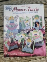 Plastic Canvas Flower Faerie Pattern Book Kathy Wirth 3167 Ornament Tiss... - $8.95