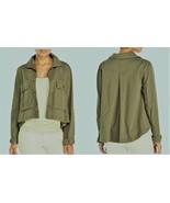 Romeo & Juliet Couture Short Woven Hi-Low Jacket Olive Sz S, M NWT MSRP:... - $20.78