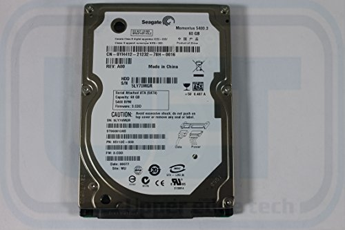 "Dell YH412 ST960813AS 2.5"" SATA 60GB 5400 150 MB/s Seagate Laptop Hard Drive Pre"