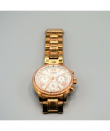 Guess Ladies Watch W0559L3 Round Dial Crystals Stainless Rose Gold Band ... - $38.69