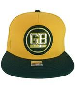 Green Bay GB Patch Style Adjustable Snapback Baseball Cap (Gold/Green) - $13.95