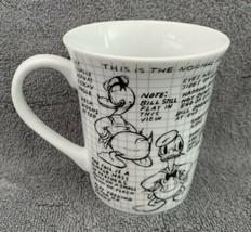 Walt Disney Mickey 90 Years Sketchbook Ceramic Donald Duck Mug Coffee Cup New - $14.87