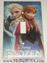 Frozen Elsa Anna Light Switch Power Duplex Outlet wall Cover Plate Home decor