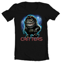 Critters T-shirt retro 80's horror movie free shipping  black 100% cotton tee image 2