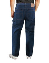 Men's Carpenter Work Jeans Hammer Loop Relaxed Fit Casual Cotton Denim Pants image 12