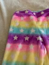 Arizona Girls Purple Pink Blue Yellow Stars Fluffy Fleece Pajama Pants 1... - $5.95