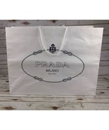 Authentic Prada Shopping Bag White Paper Reusable Tote Gift X-Large 25.5... - $28.02
