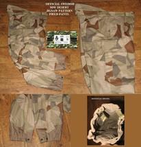 """Original Swedish M90 Desert Jig Saw Pattern Field Pants 180/85 34"""" W X 3... - $33.94"""
