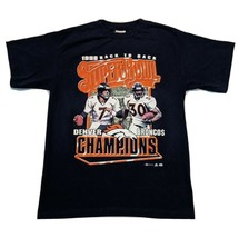 1999 Denver Broncos NFL Back To Back Super Bowl Champions Graphic size L VINTAGE - $19.26